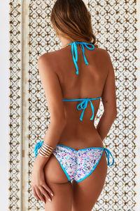 Vegas Party Sequin & Aqua Single Rise Sequin Scrunch Bottom image