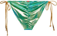Blue Green Tie Dye Shimmer Triangle Top image
