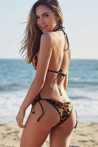 Laguna Velvet Leopard & Black Classic Bikini Top image
