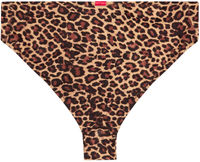 Leopard Full Coverage Mid-Rise Scrunch Banded Bottom image