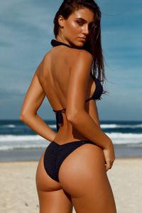 Rosemary Black Bikini Bottom image