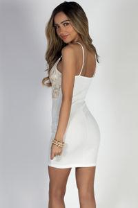 """""""Love Goddess"""" Ivory V-Neck Cocktail Dress image"""