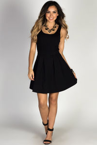 """Girl Code"" Black Scoop Neck Sleeveless Cut Out Party Dress image"