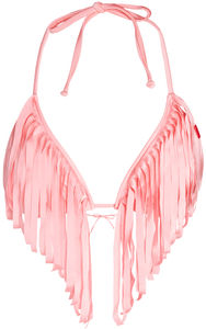 Baby Pink Fringe Triangle Top image