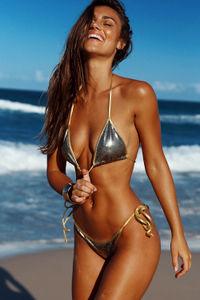 Laguna Cosmic Gold & Gold Classic Bikini Top image