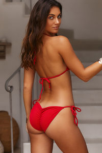 Red Ribbed Triangle Top image