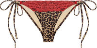 Leopard & Red Edge Lace Triangle Top image