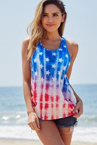 USA American Flag Tie Dye Tank image