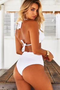 White High Waist Bikini Bottom image