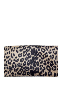 Taupe Leopard Clutch image