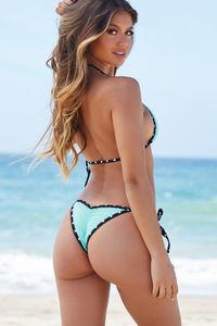 Sedona Mint & Black Polka Dot Micro Scrunch Bikini Bottoms image
