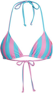 Pink & Blue Stripes Triangle Top image