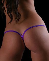 Solid Purple Y-Back Thong Underwear image