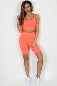 """Underneath It All"" Neon Coral Crop Tank Top image"