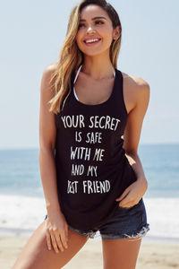 Black Your Secret's Safe With Me Tank image