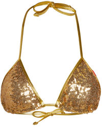 Gold Sequin Triangle Top image