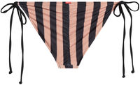 Black & Taupe Stripes Triangle Top image