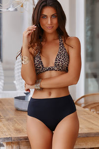 Leopard Adjustable Halter Top image