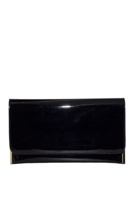 Black Patent Leather Essential Clutch image