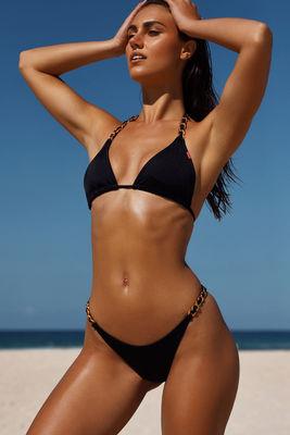 Black Classic Bikini On a Chain Bottom image