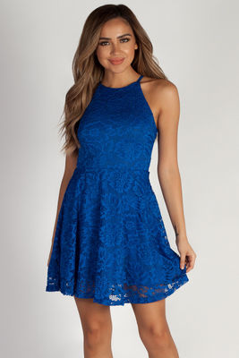 """""""Another Lifetime"""" Royal Lace Skater Dress image"""