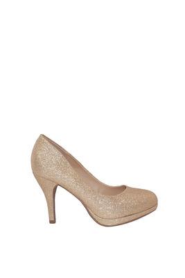 """Princess"" Gold Glitter Round Toe Pumps image"