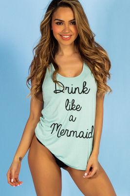 Aqua Drink Like a Mermaid Beach Tank image