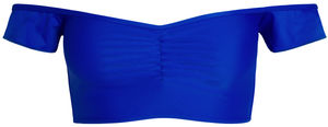 Royal Blue Off Shoulder Bikini Top image