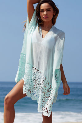Boston Light Aqua Poncho Coverup image