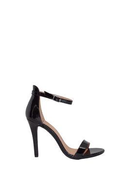 """""""Queen"""" Black Patent High Heel Sandals image"""