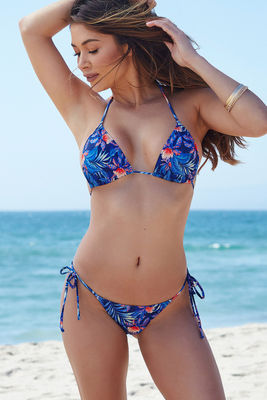 Surfside Midnight Tropical Print Triangle Bikini Top image