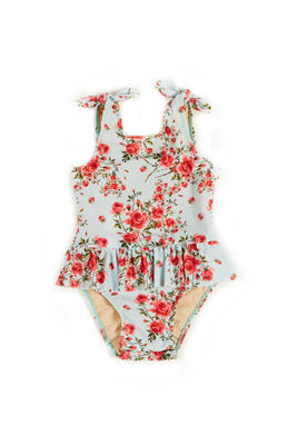 Bella English Rose Print Baby/Toddler One Piece Swimsuit image