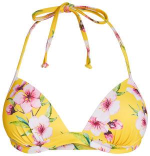 Yellow Cherry Blossom Push Up Bra image