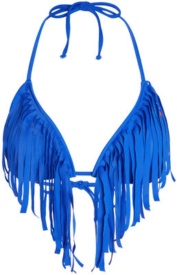 Royal Blue Fringe Triangle Top image