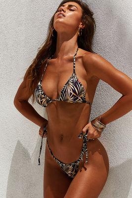 Laguna Black Palm Triangle Bikini Top image