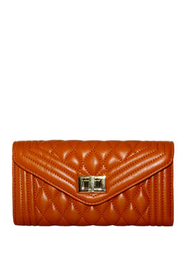 Brown Quilted Vegan Leather Bag image