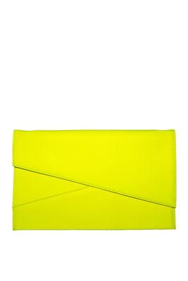 Neon Yellow Asymmetrical Clutch image