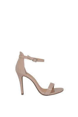 """""""Queen"""" Beige Patent High Heel Sandals image"""