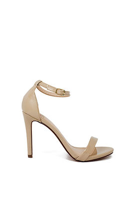 """Wonderland"" 4"" Beige Patent Leather Womens High Heel Sandals image"