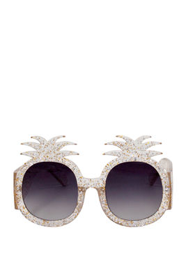 Summer Lovin' Clear Pineapple Sunglasses image