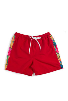 Sunset Tropical Red Men's Swim Shorts image