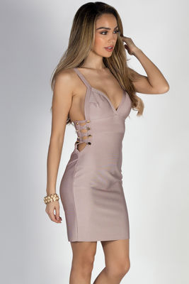 """One Night Only"" Lavender Side Cut Out Bandage Dress image"