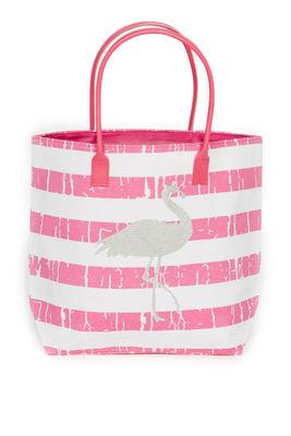Pink Flamingo Beach Bag image