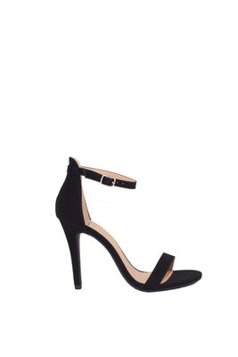 """Queen"" Black Suede High Heel Sandals image"