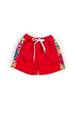 Sunset Tropical Red Boys Swim Shorts image