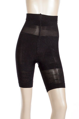 Black High Waist Thigh Slimmer Body Shaper Girdle image