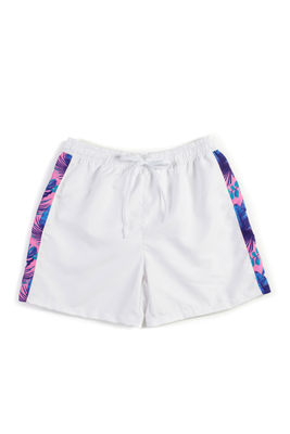 South Beach Palm White Men's Swim Shorts image