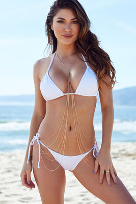White Triangle Bikini Top image