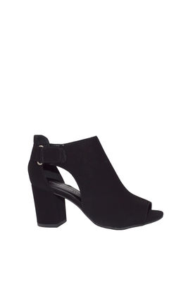 """Finesse"" Black Suede Cut Out Ankle Boots image"