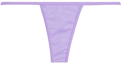 Solid Lilac Y-Back Thong Underwear